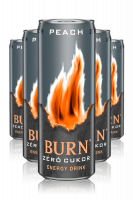 Burn Peach Zero Sugar Energy Drink Cassa da 12 Lattine x 25cl