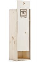 Cassetta di Legno con Logo Bernabei Stampato a Fuoco (1 Bottiglia)
