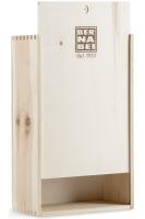 Cassetta di Legno con Logo Bernabei Stampato a Fuoco (2 Bottiglie)