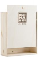 Cassetta di Legno con Logo Bernabei Stampato a Fuoco (3 Bottiglie)