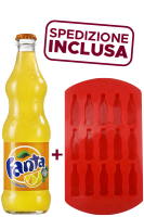 Fanta Vetro 33cl: Confezione con 24 Bottiglie + Formina per Ghiaccio