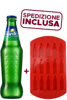 Sprite Vetro 33cl: Confezione con 24 Bottiglie + Formina per Ghiaccio