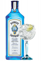 Gin Bombay Sapphire 1Litro + 2 Balloon Bombay OMAGGIO