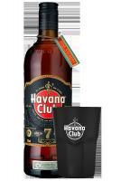 Rum Havana Club 7 Anni 70cl + 2 Bicchieri Neri Havana OMAGGIO
