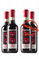 6 Mezze Bottiglie Morellino Di Scansano DOCG 2019 Poggio Ameno 375ml + 6 OMAGGIO
