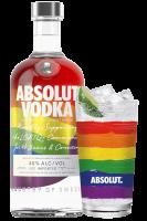 Vodka Absolut Rainbow Limited Edition Pride 70cl + 2 bicchieri Absolut OMAGGIO