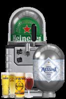 Spillatore + 1 Fusto Messina 8LT + 1 Fusto Heineken 8LT + Starter Kit
