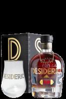 Ron Desiderio XO 70cl (Cassetta in Legno) + 4 Bicchieri + 1 Confezione Fave di Cacao