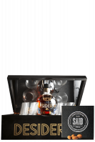 Ron Desiderio XO 70cl (Confezione Deluxe in Legno) Con 4 Bicchieri + 1 Confezione Fave di Cacao