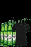 Heineken Cassa da 24 bottiglie x 33cl + OMAGGIO 1 T-shirt Heineken taglia mista