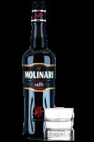 Liquore Caffè Molinari 70cl + OMAGGIO 2 bicchieri Molinari