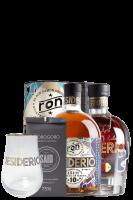 Ron Desiderio 10 Anni 70cl (Astucciato) + Ron Desiderio XO 70cl (Cassetta in Legno) + 2 Bicchieri Desiderio