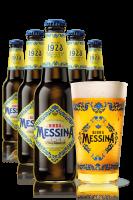 2 Casse Birra Messina da 24 bottiglie x 33cl + OMAGGIO 6 bicchieri Messina 20cl