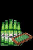 Heineken Cassa da 24 bottiglie x 33cl + OMAGGIO 1 Mini Calcio Balilla