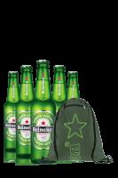 Heineken Cassa da 15 bottiglie x 66cl + OMAGGIO 1 zainetto Heineken