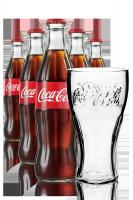Coca-Cola Vetro 33cl: Confezione da 24 Bottiglie + 6 Bicchieri Coca-Cola 50cl