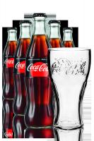 Coca-Cola Zero Vetro 33cl: Confezione da 24 Bottiglie + 6 Bicchieri Coca-Cola 50cl